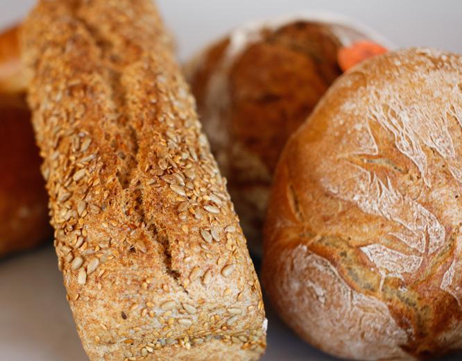 Brotauswahl der Bergbäckerei Zwisler